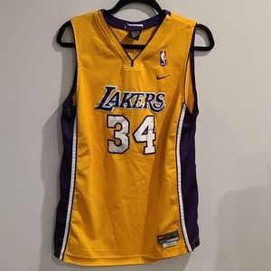 Lakers 1990s Vintage Nike Shaquille O'Neal Stitche